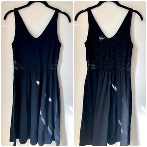 H&M Divided Black Lace Back Fit and Flare Dress 2